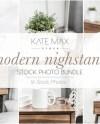 Neutral Nightstand Styled Stock Photo Bundle Product Mockup Etsy