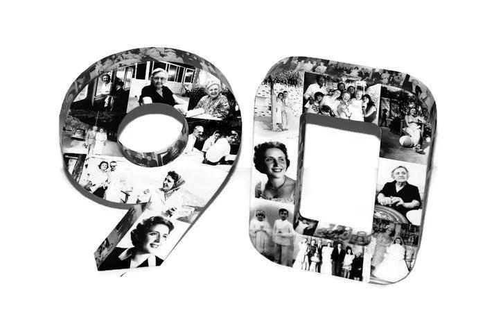 90th Birthday Number 90 Birthday Keepsake Ninety Ninetieth