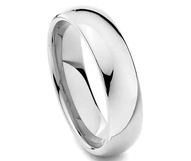 Stainless Steel Wedding Ring Silver Wedding Band Mens Ring Womens Ring Mm Stainless Steel Ring Sizes   W Half Sizes
