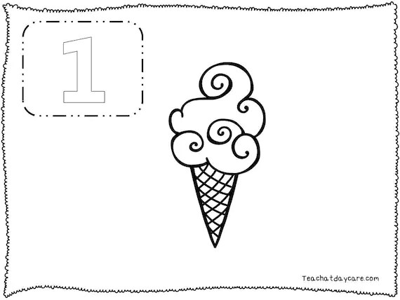 20 Printable Numbers 1-20 Counting and Color Worksheets