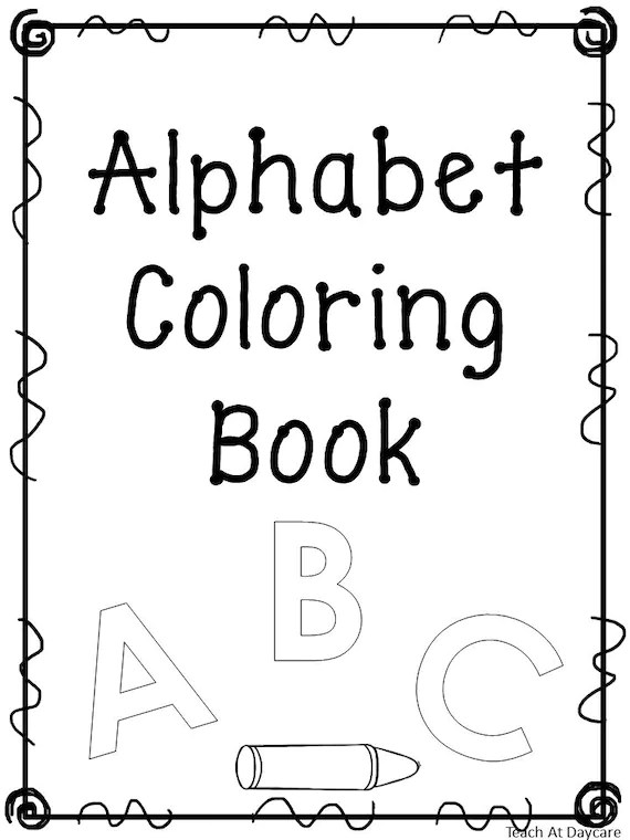 27 Printable Alphabet Coloring Book Worksheets. Preschool