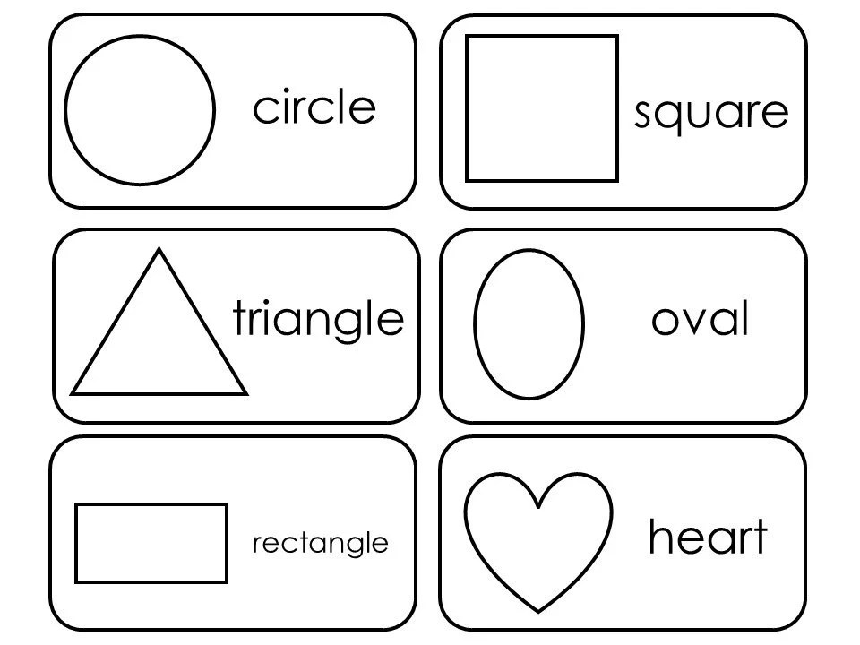 29 Printable 2D and 3D Shapes Flashcards. Preschool-3rd