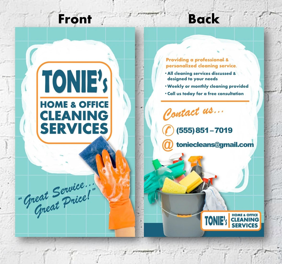 Cleaning Business Advertisement Business Card 2x3 Flyer