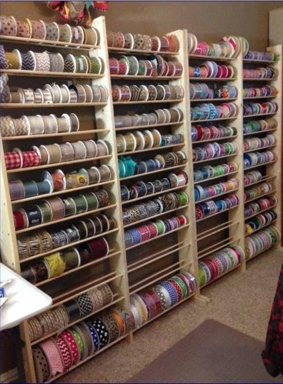 Wire Spool Rack Diy : spool, Ribbon, Holder, Digital, Instructions, Blueprints