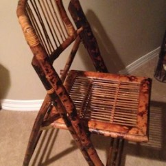Bamboo Folding Chair Cozy Chairs Small Spaces Etsy Sale Vintage Wicker Wood