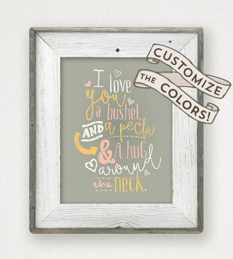 Download I Love You a Bushel and a Peck Doris Day Baby Shower Gift ...