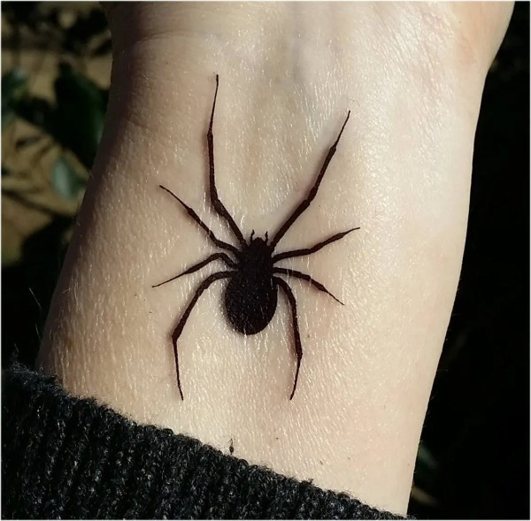 temporary tattoo spider tattoos