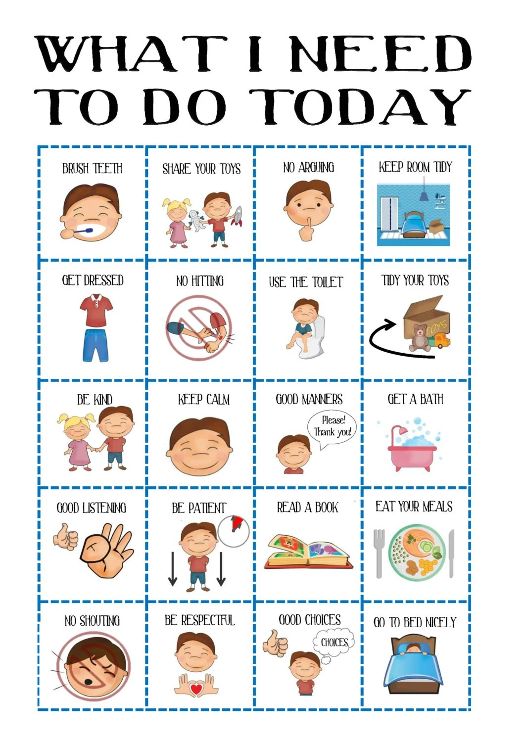 Behaviour chart for boys toddler routine visual aid asd reward picture communication pcs download printable also etsy rh