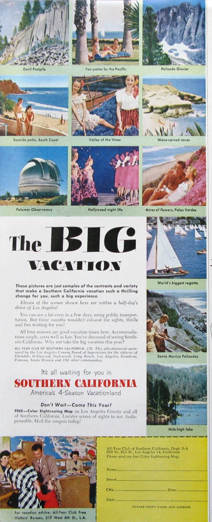 1950s Vacation Ads Etsy