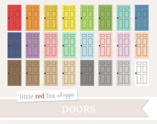 Door Clipart House Clip Art Household Bedroom Room Wood Etsy