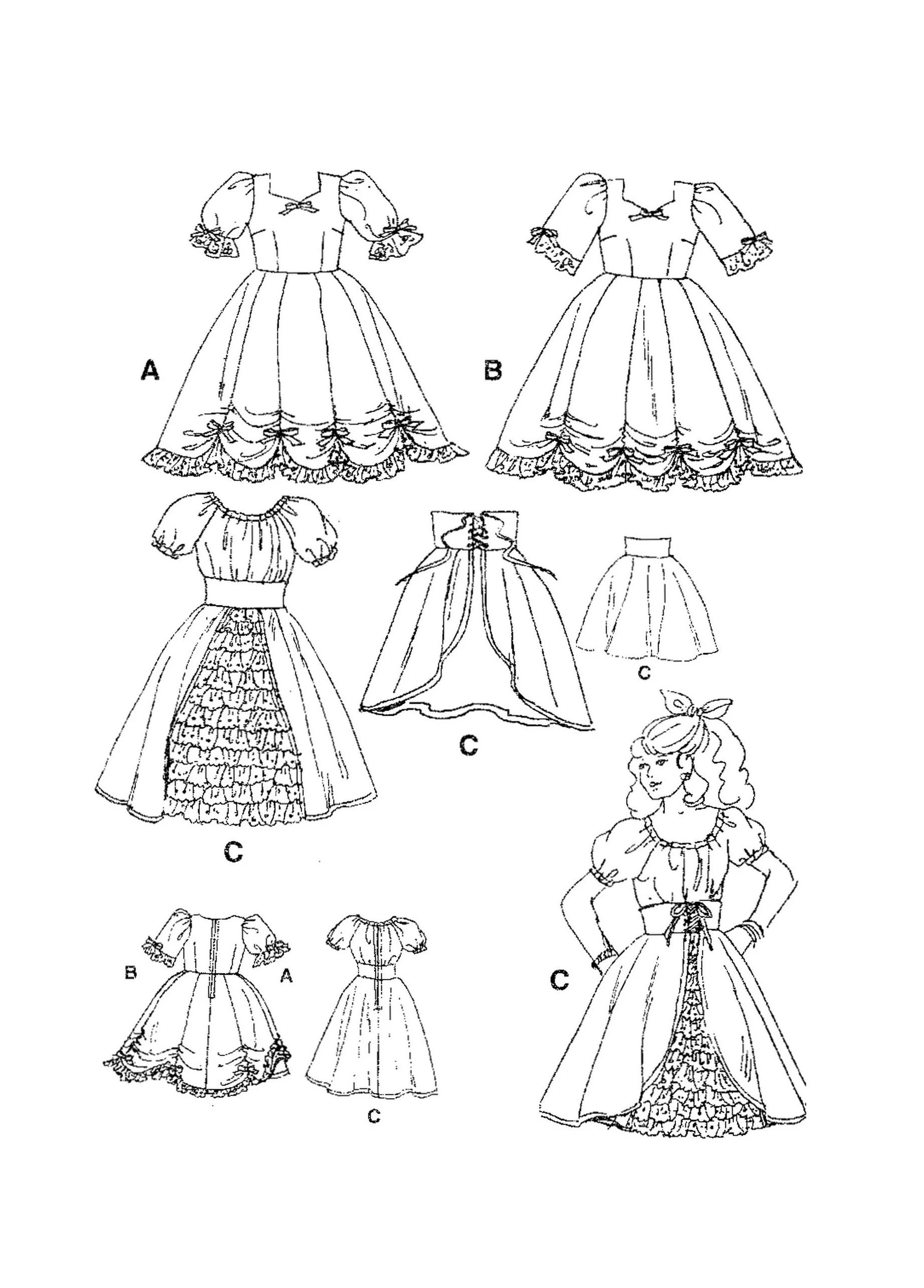 Simplicity 7719 Sewing Pattern Misses Square Dance Dresses