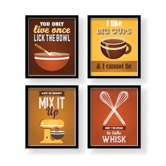 Kitchen Signs For Work Myrtle Beach Hotels With Brown Decor Wall Orange Etsy Image 0