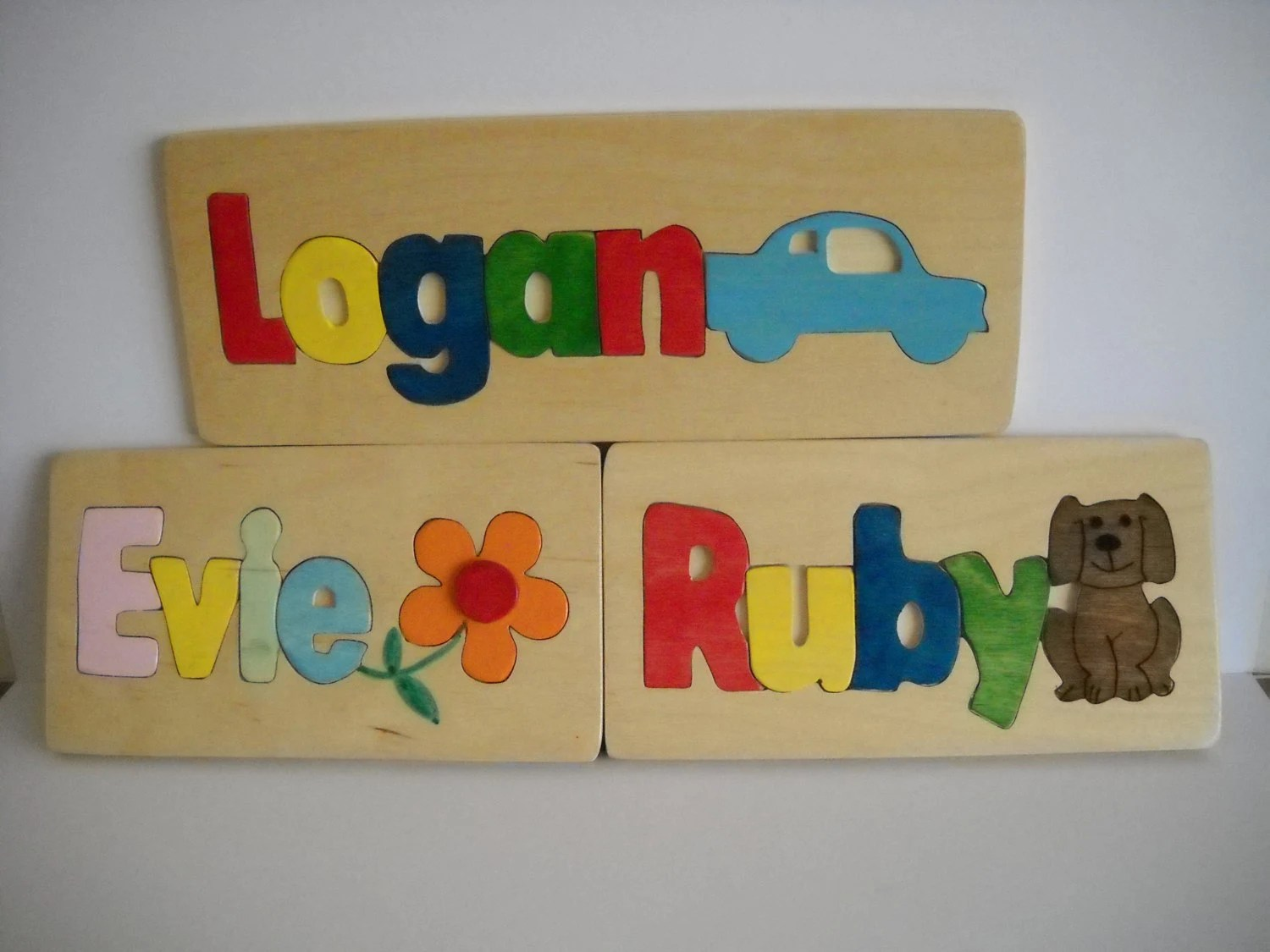 personalised name puzzle trays