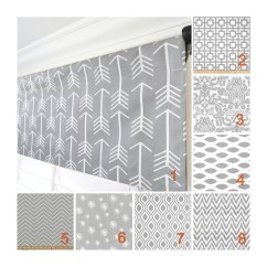 Kitchen Valance Stainless Table Etsy Grey White Arrow Curtain Dandelion Modern Valances Custom Curtains