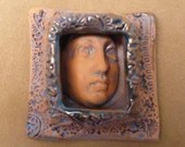 Boxed face protection goddess priestess beading change altar collage spirit doll magic strength guardian the face Diane Briegleb 317