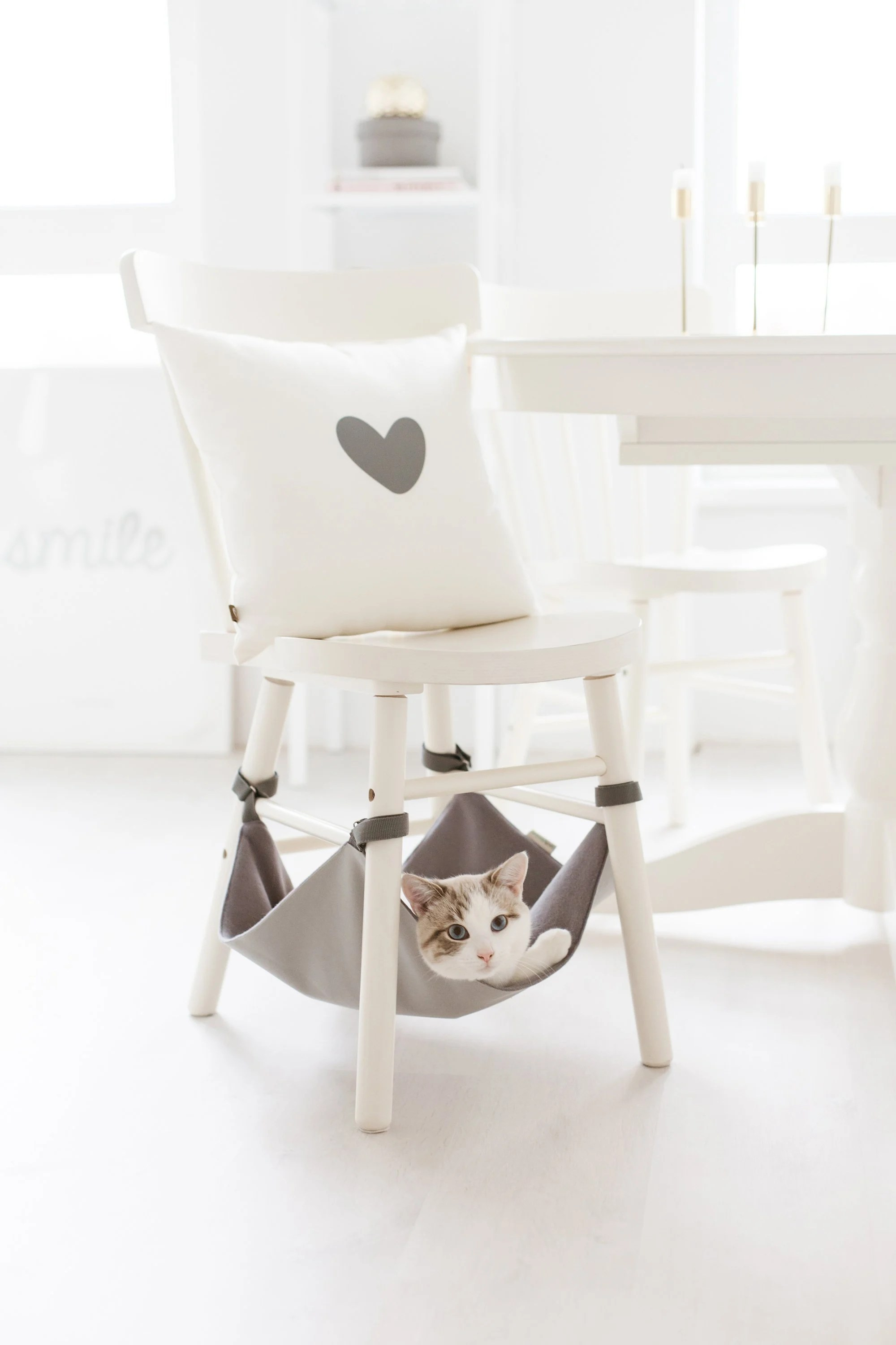 under chair cat hammock riser recliner chairs for the elderly reviews grey gift toy etsy image 0