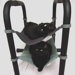 Cat Hammock Under Chair Black Universal Covers Dark Grey For Chairs Etsy Image 0