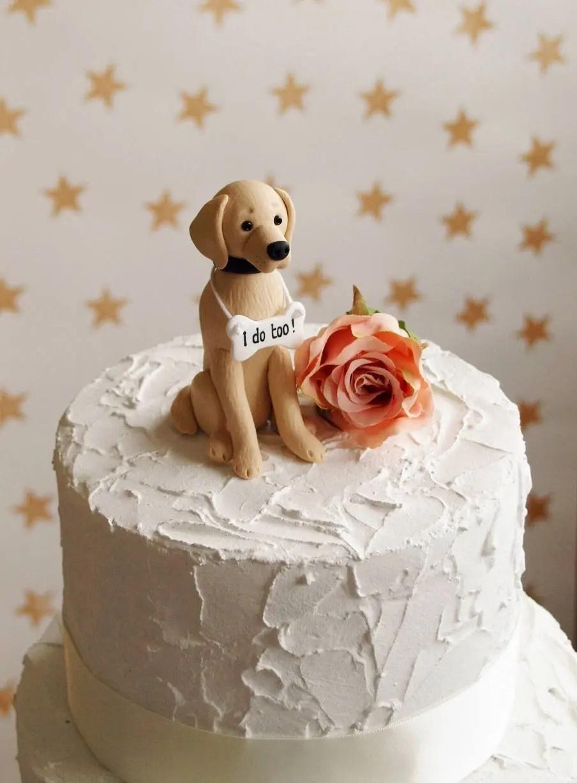 Golden Retriever Cake Topper Dog Wedding Cake Topper Dog