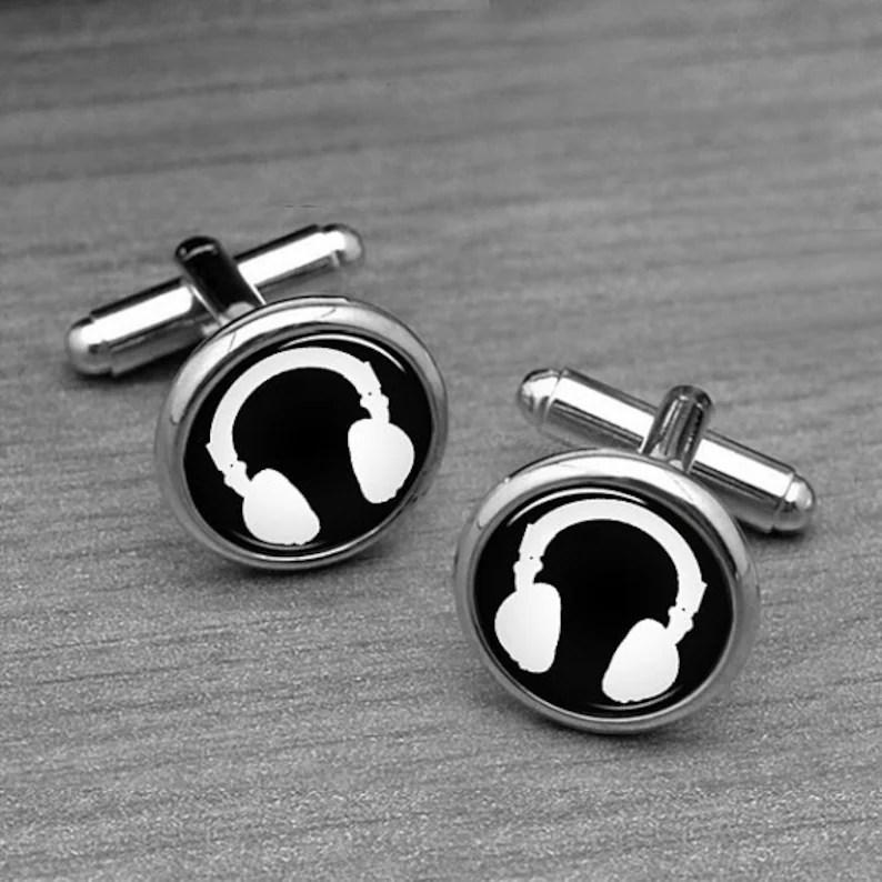 headphone cufflinks dj headphones
