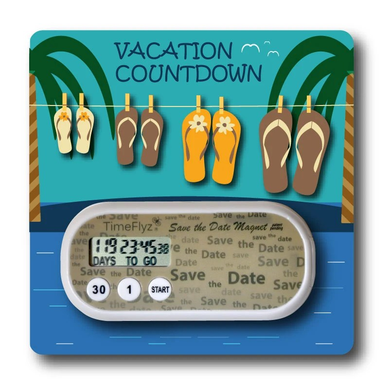 Vacation Countdown Clock Embellished Card Etsy