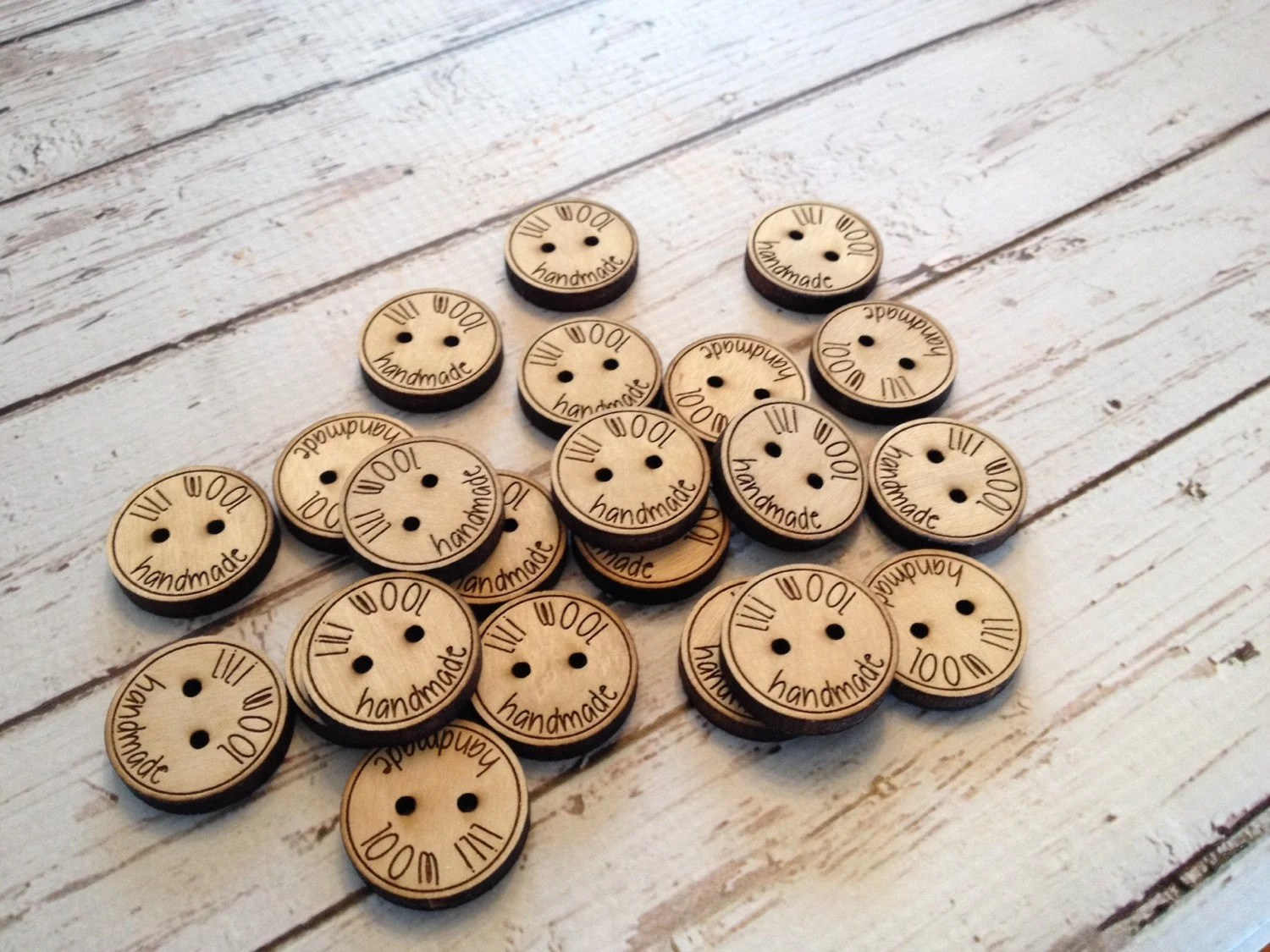 Custom button design  personalized wood button engraved image 2