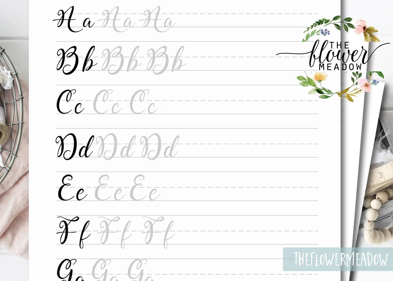 Printable Brush Lettering Worksheets Tutorial Learn