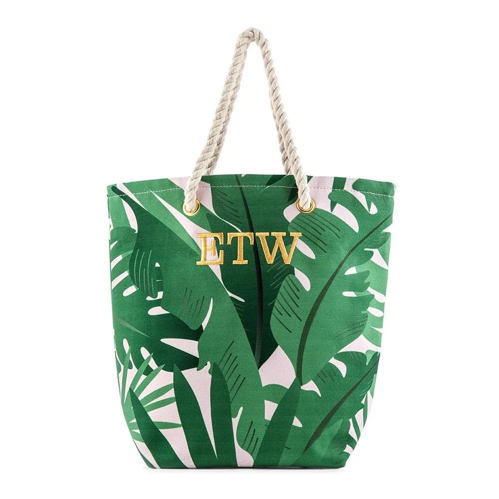 Custom Bridal Party Tote Bag  Palm Leaf  Bridesmaid Gift  image 1