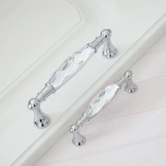 Glass Kitchen Door Handles Mid Century Modern Chairs Drawer Pulls Etsy 3 75 5 Luxury Crystal Dresser Chrome Clear Silver Cabinet Handle Decor 96 128mm