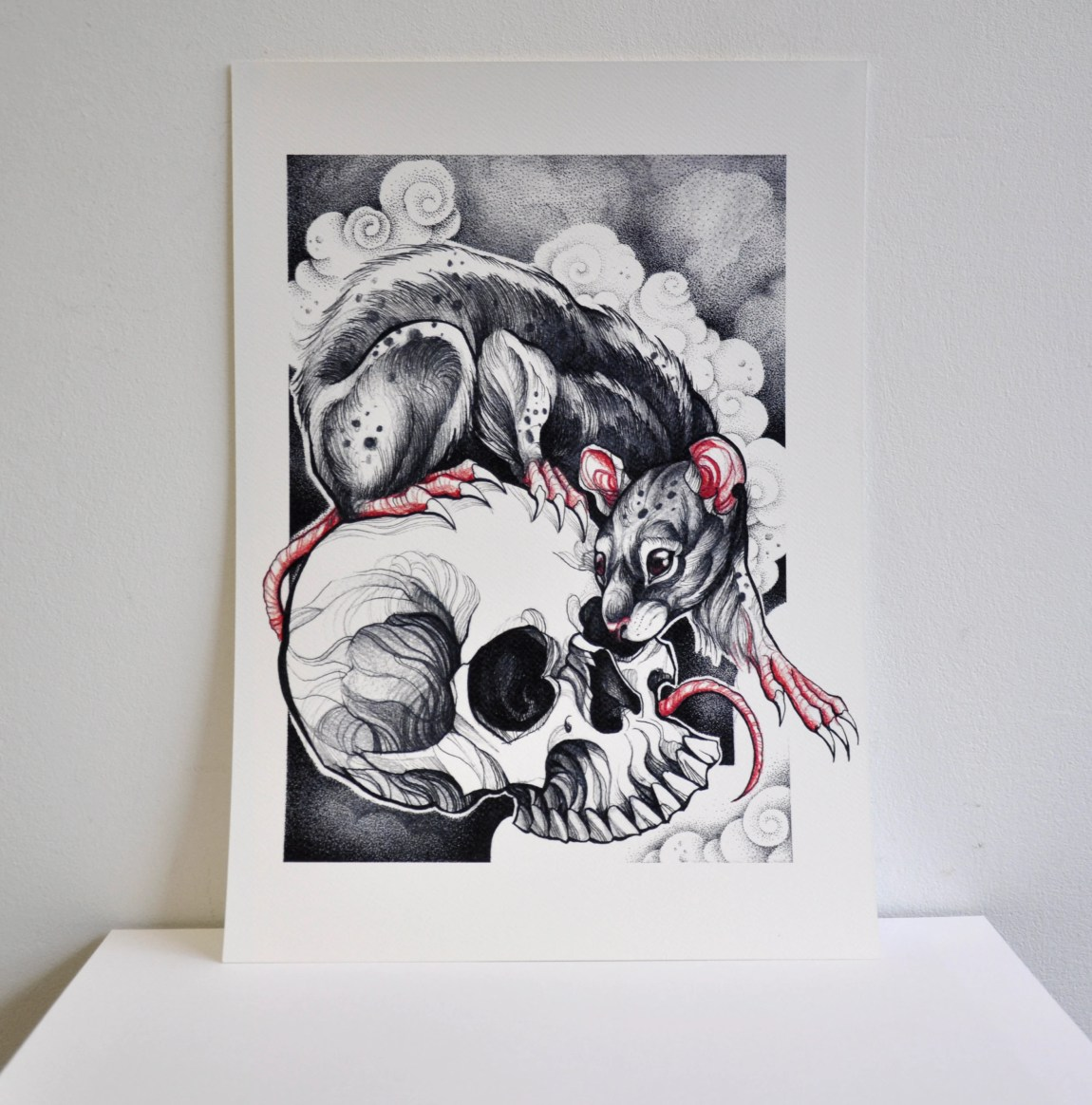 A3 Rat with Skull Graphic...