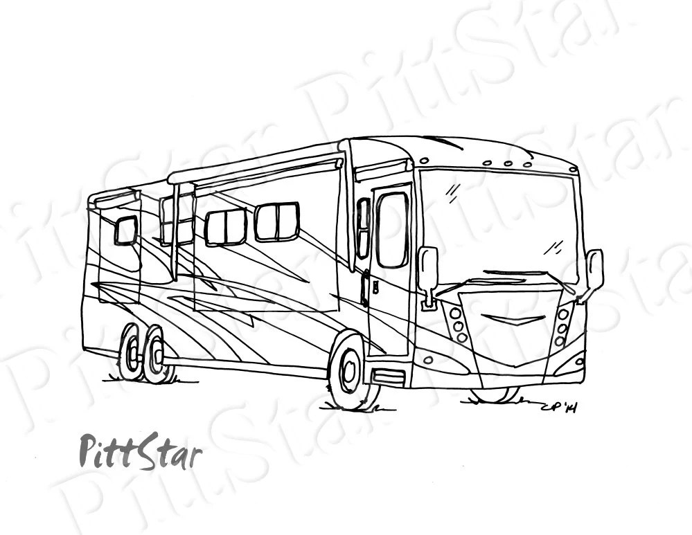 Instant Download Wimsical Winnebago Motorhome Printable