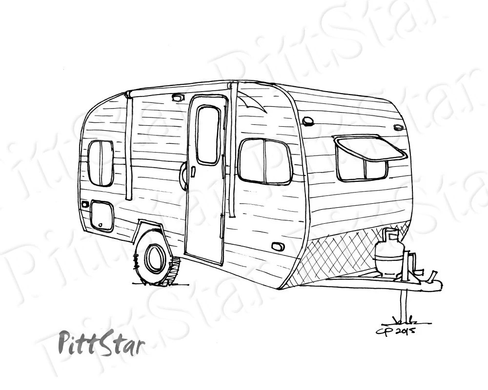 Instant Download Fifth Wheel Travel Trailer Printable