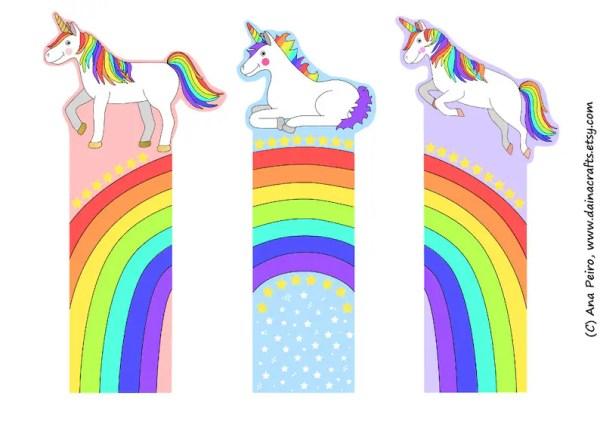 printable unicorn bookmarks # 0