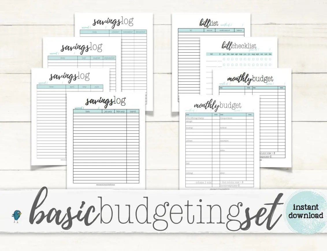 Basic Budgeting Set Budgeting Planner Worksheets For Your