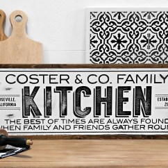 Kitchen Plaques Lyfe Franchise Personalized Signs Etsy Custom Sign Family Farmhouse Decor