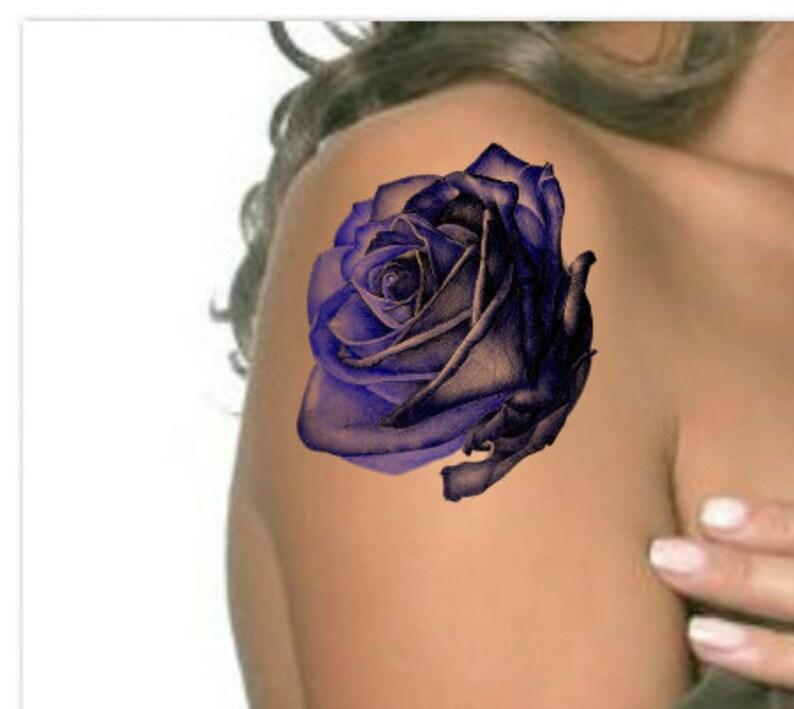 Black Blue Rose Tattoo