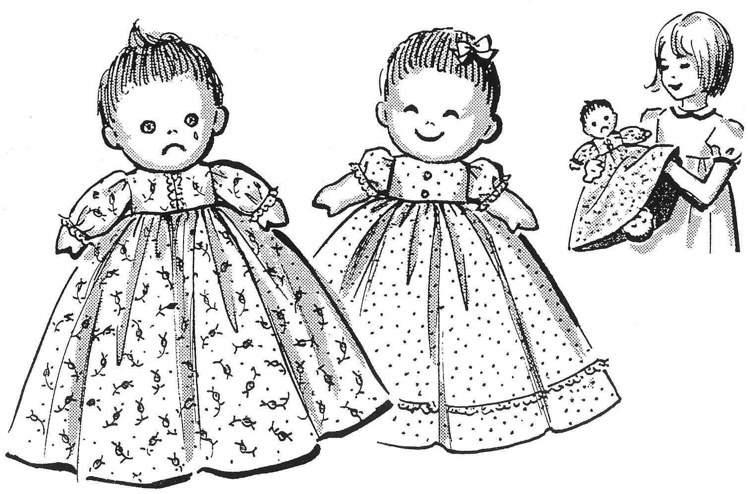 Happy and Sad Upside Down Cloth Doll Pattern Also Known As