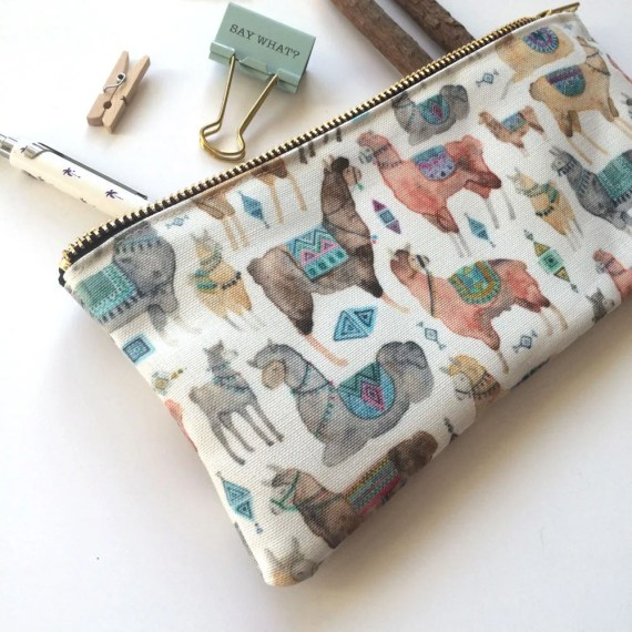 Llama Pencil Case from ElenaIllustration