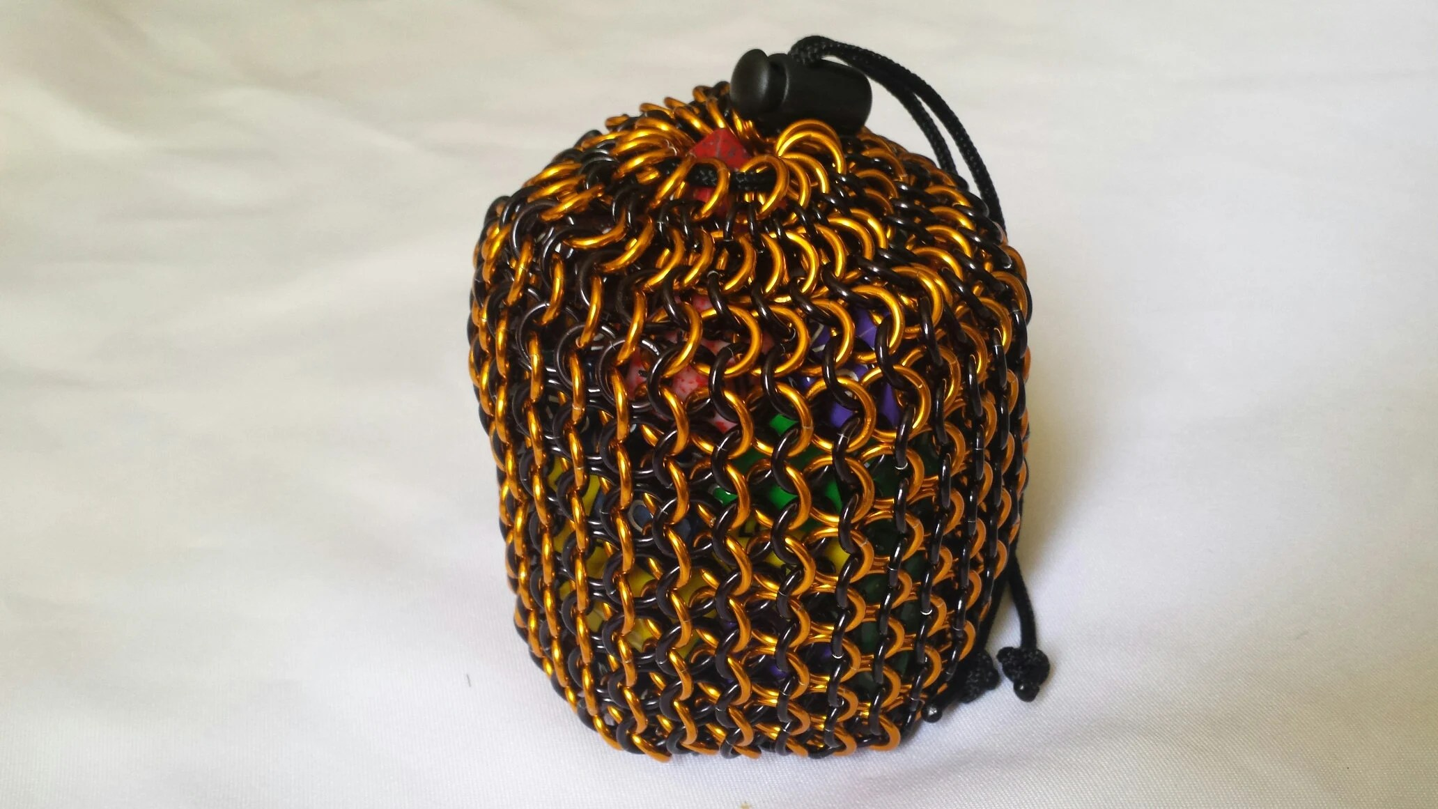chainmail dice bag etsy