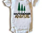 Outdoor Adventure Onsie - Camping onsies- Nature Baby