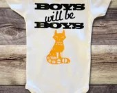 Boys will be Boys - Woodland Themed Onsies for Baby Boy