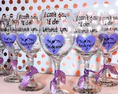 I can't say I Do without You - Be my Bridesmaid - Wine Glasses for Bridesmaid Gifts - Personalized Bridal Party Wine Glasses.