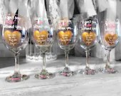 I cant say I do without you. Be my bridesmaid wine glasses? Be my maid of Honor? Bridesmaid Gifts. Bridesmaid Wine Glasses.