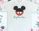 Mickey Mouse Head Boys Disneyland Tshirts - Disneyland Family Shirts - Bug Brother Shirts - Disneyland Vacation - Brother Tops
