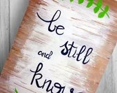Be Still and Know - Hand painted Personalized Reclaimed Wooden Signs.