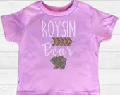 Monogram - Baby Names - Baby Bear Tops - Personalized onsie and toddler tops - Mama bear