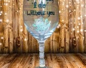 "Winter wonderland ""I cant say I do without you"" bridesmaid glasses and Bridesmaid Gifts. Be my Maid of Honor? Be my Bridesmaid? Snowflakes."