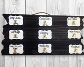 Childrens reward system - Job Charts - Chore Chart - Allowance Chart - Kids Reclaimed Wood Chore System - Parenting Charts