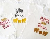 Family Bear Shirts - Mama Bear, Daddy Bear, Baby Bear - Family Photo Tops -