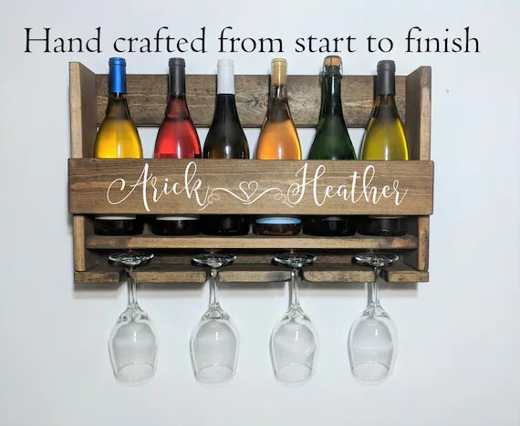 personalized wine rack wall mounted