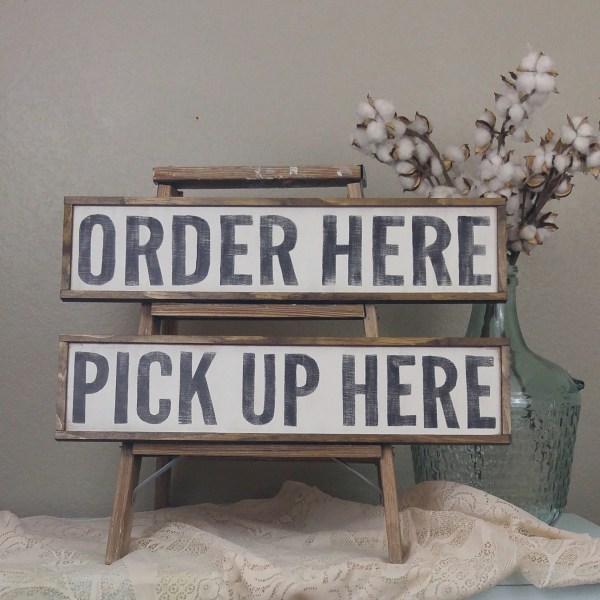 Restaurant Signage Sign Cafe Signs Order